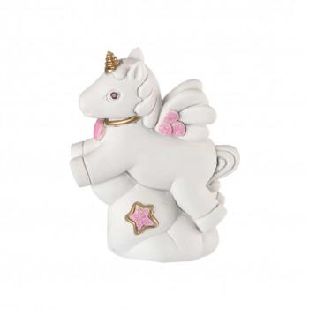 Bongelli Preziosi Bomboniera Battesimo - Scultura con Unicorno Rosa