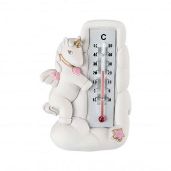 Bongelli Preziosi Bomboniera Battesimo - Termometro con Unicorno Rosa