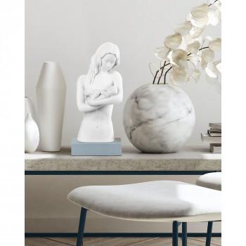 """Bongelli Preziosi Scultura da tavolo moderna con base colorata """"Abbraccio di mamma""""      ME1921"""