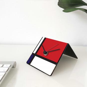 """Design Object Orologio da tavolo o scrivania calendario e magneti sul retro """"MONDRIAN"""""""
