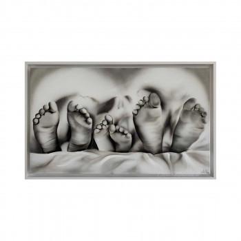 "Art Maiora Capezzale moderno dipinto a mano su tela ""Meraviglia"" 110x65      MRVG"