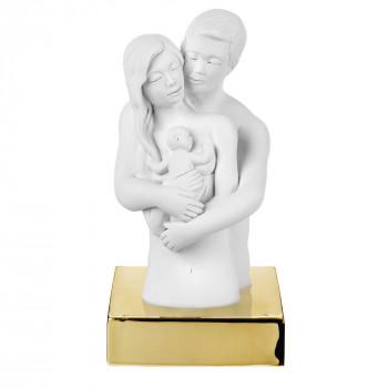 Bongelli Preziosi Scultura da tavolo con base in marmorino raffigurazione abbraccio innamorati      ME2077