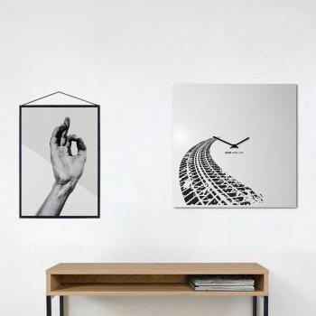 """Design Object Orologio da parete moderno minimal in metallo per salotto-ufficio """"RIDE & LIVE""""      IT6630"""