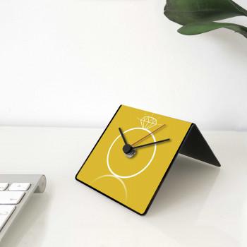 """Design Object Orologio da tavolo e scrivania in metallo con frasi celebri sul retro """"GROSSMAN"""" Cit Collection     IT243"""