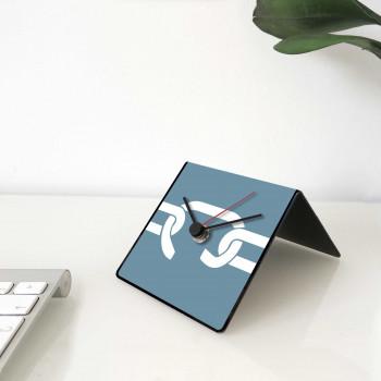 """Design Object Orologio da tavolo e scrivania in metallo con aforisma sul retro """"SENECA"""" Cit Collection     IT242"""