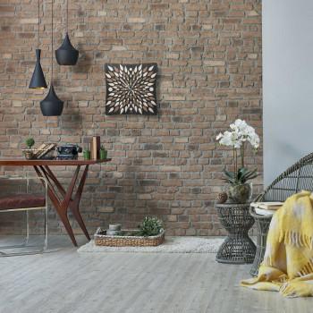 """Ves Design Orologio da parete in legno per soggiorno o cucina dal design mdoerno """"Fuoco"""" Istanti     L05R15"""