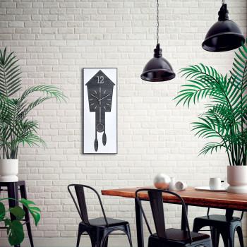 Ves Design Orologio da parete in legno dal design moderno per soggiorno KLIN     K05R41