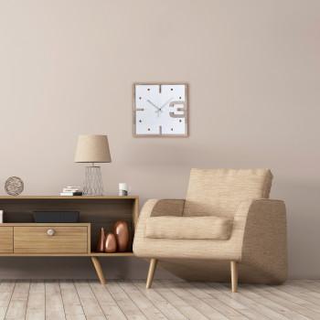 Ves Design Orologio da parete in legno con quadrante quadrato di design moderno KLIN     K05R4