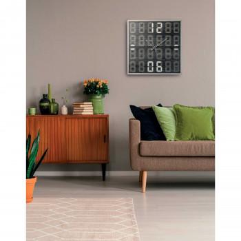 """Ves Design Orologio da parete in legno dal design moderno per salone """"Digital"""" Istanti     L05R29"""