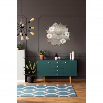 """Ves Design Orologio da parete in legno per soggiorno e cucina """"Jungle"""" Istanti     L05R33"""