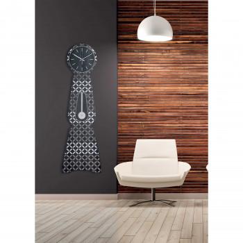 """Ves Design Orologio da parete di grandi dimensioni in legno per soggiorno """"Moraklocka"""" Istanti     L05R37"""