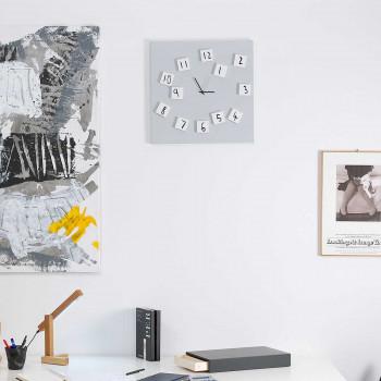 """Design Object Orologio da parete gigante in metallo con numeri magnetici semovibili """"Changing""""      IT420WBIG"""