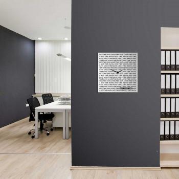 """Design Object Orologio da parete moderno in metallo per studio o ufficio """"NICE TIME""""      IT61"""