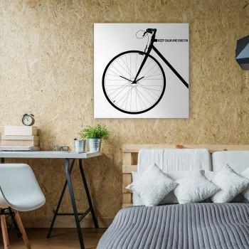 """Design Object Orologio da parete in metallo con decorazione bicicletta in stile moderno """"BIKE""""      IT608"""
