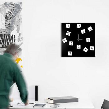 """Design Object Orologio da parete moderno in metallo con numeri magnetici movibili """"CHANGING""""      IT420"""