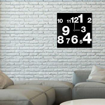 """Design Object Orologio da parete moderno in metallo con numeri serigrafati """"NUMBERS""""      IT508"""