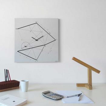 """Design Object Orologio da parete minimalista con disegno a serigrafia geometrica """"TIME LINE""""      IT606"""