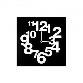 """Design Object Orologio da parete in metallo con numeri setigrafati in stile modeno """"CLOCK NUMBERS""""  Nero    IT509"""
