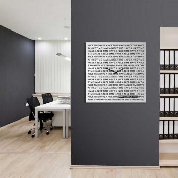 """Design Object Orologio da parete gigante in metallo per studio o per salotto """"NICE TIME""""      IT615WB"""