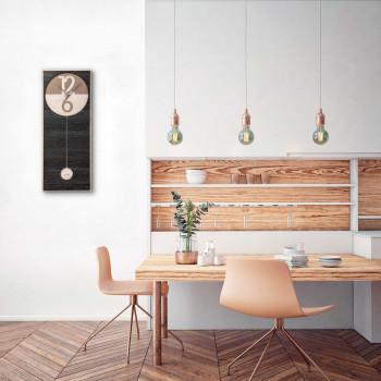 """Ves Design Orologio da parete in legno dal design modern per soggiorno """"Pendola"""" Istanti     L05P2"""