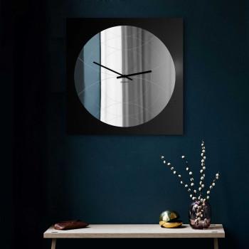"""Design Object Orologio da parete specchiato stile moderno design italiano """"SPECCHIO NARCISO""""      IT6681"""