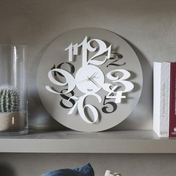 """Arti e Mestieri Orologio da parete con numeri grandi con effetto tridimensionale """"Focus"""""""
