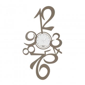 """Arti e Mestieri Orologio da parete alto con numeri in metallo """"Calypso"""""""