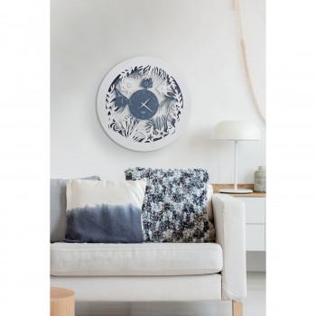 Arti e Mestieri Orologio da parete rotondo a tema marino con pesciolini Nettuno