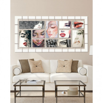 Pintdecor Pannello da parete moderno Fleeting Faces 175x85      P4718
