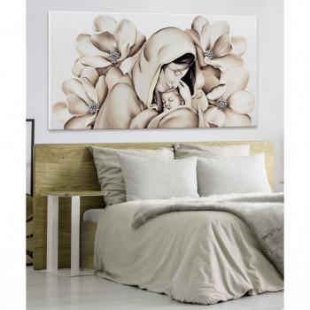 Pintdecor Quadro Maternità con fiori beige 140x70
