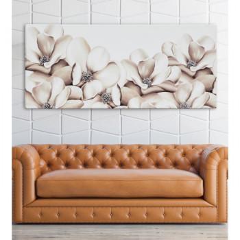 Pintdecor Quadro moderno da parete Fiori d'estate 160x70      P4760