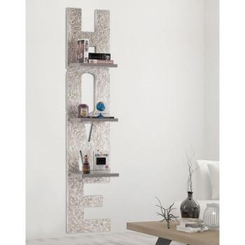 Pintdecor Libreria da parete moderna in legno Matter Home 40x190  Argento    P4852