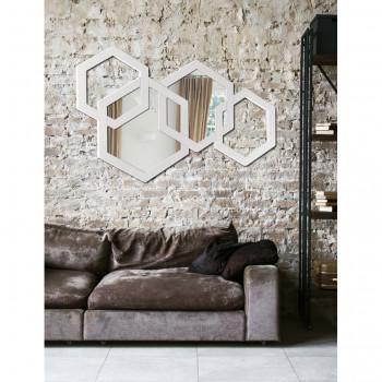 Pintdecor Specchio da parete di design piccolo Apotema  Avorio
