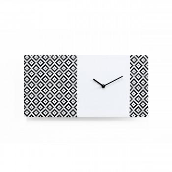 """Progetti Orologio da parete moderno in legno """"Pattern & Partner"""""""