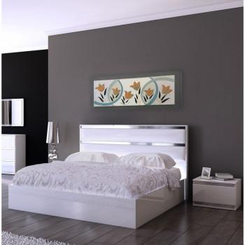 """Artitalia Quadro moderno floreale in rilievo decori in resina e foglia oro/argento  """"Tulip Field I"""" 155x65      PD1059"""