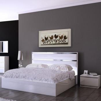 """Artitalia Quadro materico moderno dettagli in foglia argento in rilievo 3d """"Tulipani Perlati II"""" 120x60      PD6118"""