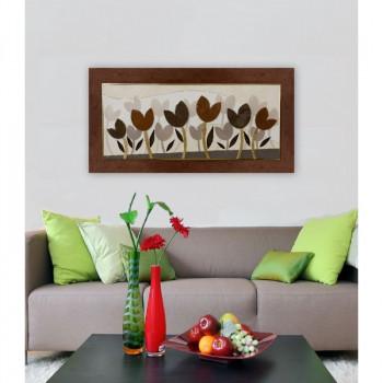 """Artitalia Quadro moderno in rilievo 3d dettagli materici in foglia oro """"Tulipani Perlati III"""" 120x60      PD6119"""