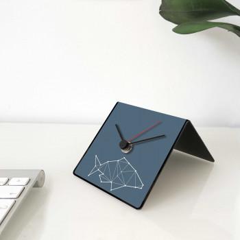 """Design Object Orologio da scrivania per casa o ufficio in metallo con dedica sul retro """"PESCE"""" Totem Collection     IT223"""