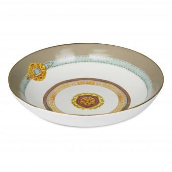 Baci Milano Set 6pz Piatti fondi in porcellana con filo oro Horses Marrone    PIAT2.HOR02