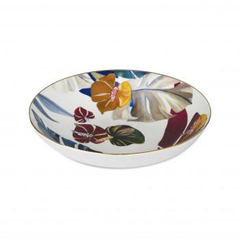 Baci Milano Set 6pz Piatti fondi in porcellana con filo in oro dalle linee contemporanee Savana Multicolore    PIAT2.SAV01