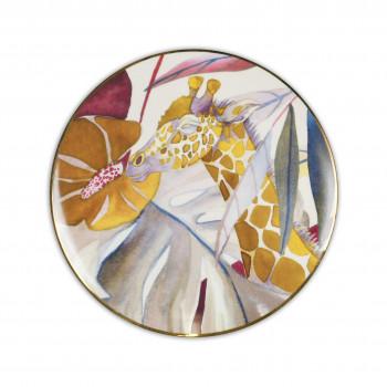 Baci Milano Set 6pz Piatti frutta in porcellana con filo in oro dalle linee contemporanee Savana Multicolore    PIAT3.SAV01