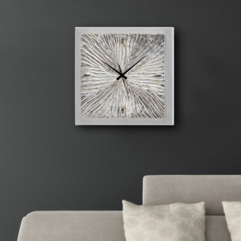 Pintdecor Orologio da parete  Fossile Argento    P3636