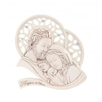 Bongelli Preziosi Bomboniera Battesimo - Capezzale Sacra Famiglia Invecchiato Nocciola