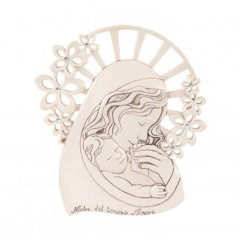 Bongelli Preziosi Bomboniera Battesimo - Capezzale con Maternità Invecchiato Nocciola