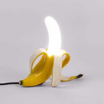 Seletti Lampada da tavolo a LED dal design stravagante a forma di banana  Giallo Lumen 480 3000k Luce Calda  13072