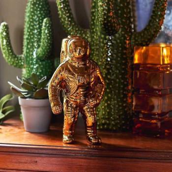"""Seletti Vaso in porcellana astronauta """"Cosmic Diner Starman""""  Oro    10933"""