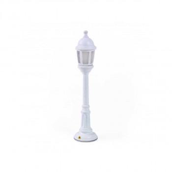 Seletti Lampada da tavolo dal design moderno con batterie ricaricabili Street Lamp  Lumen 55 3000k Luce Calda  1470