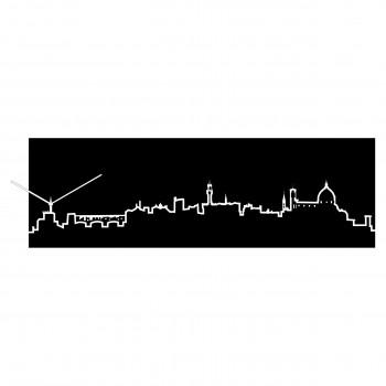 Progetti Orologio da parete con pannello in legno Firenze Skyline