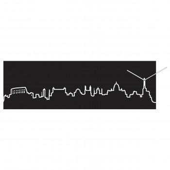 Progetti Orologio da parete con pannello in legno Roma Skyline