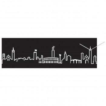 Progetti Orologio da parete con pannello in legno Verona Skyline
